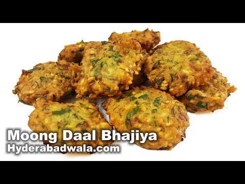 Moong Daal Bhajiya Recipe Video – How to make Green gram and Dill leaf fritters at home