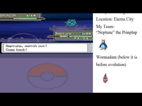 Let's Play Pokémon Platinum (PSMR) - Episode 8, Wormadam and Bronzor Bring The Steel in Eterna City