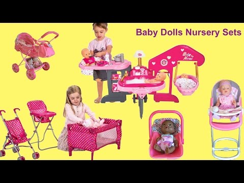 Baby Dolls Nursery Center - Baby Annabell Feeding and Eating, Potty Time, Bath Time and Bed Time