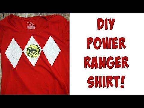 DIY Power Ranger Shirt | Nerdy Crafts Ep. 34