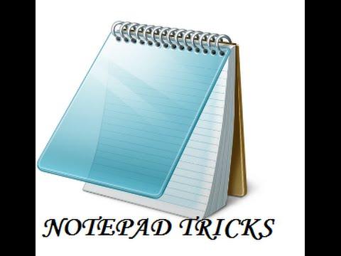coolest Notepad Tricks!!!!