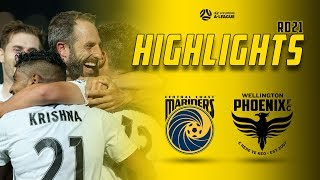 HIGHLIGHTS | Central Coast Mariners vs Wellington Phoenix