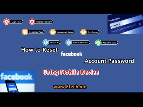 reset facebook password using mobile