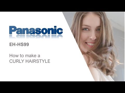 How to create a curly hairstyle with the Panasonics EH-HS99 hair straightener