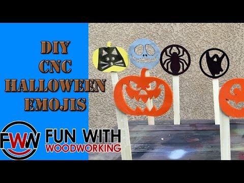 DIY CNC Halloween Emojis