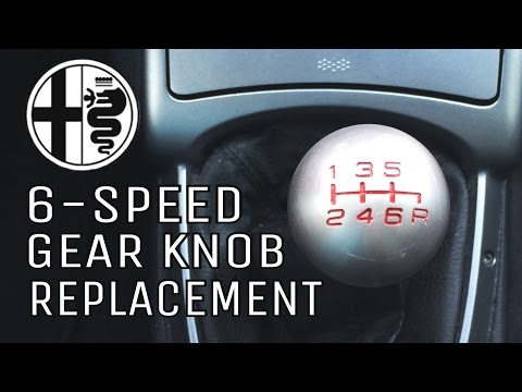 How to remove gear shifter knob on Alfa Romeo 6-speed