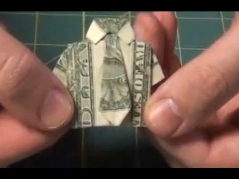 Improved Dollar Origami Shirt - Make a Dollar Bill Shirt With Necktie and Collar Tutorial
