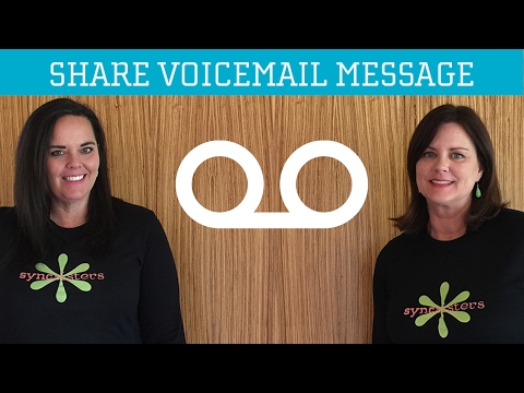 iPhone Share Voicemail Message