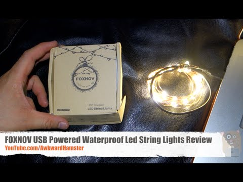 FOXNOV USB Powered Waterproof Led String Lights Review