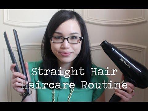 Straight Hair Haircare Routine