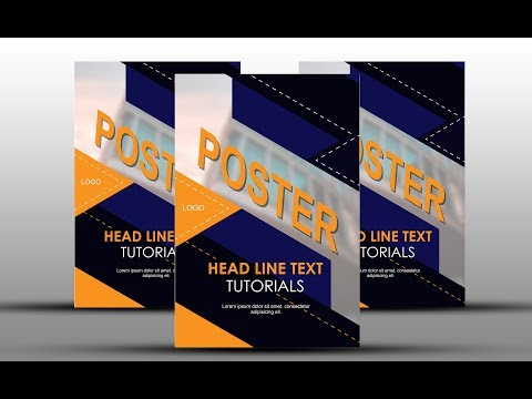 How to Create a Simple Poster Not Using Gradient Colors  Adobe Illustrator
