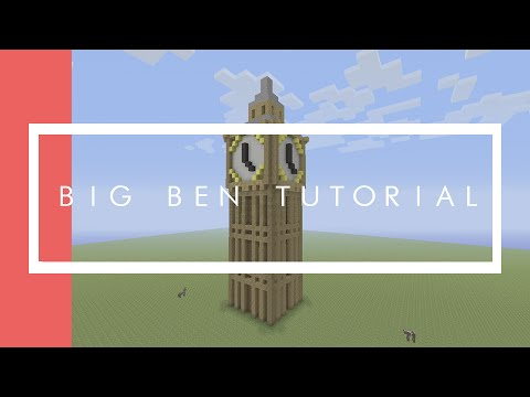 Big Ben Tutorial Minecraft Xbox/Playstation/PE/PC/Wii U