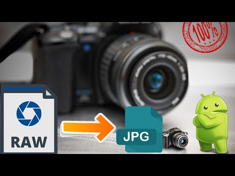 How to convert raw file to jpg offline/ .nef to .jpg / jpg / jpeg / free / no limit / from andriod