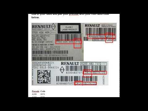 Free Renault Radio Codes