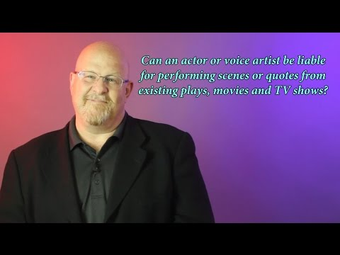 Actor Liability for Content - Entertainment Law Asked & Answered