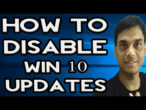 How To Disable/turnoff Windows 10 Automatic Updates   Stop win 10 updates in progress   Hindi