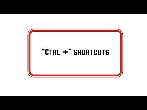 Handy Keyboard Shortcuts with Ctrl