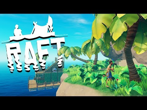 Exploring a HUGE ISLAND! - SHARK ATTACKS and Raft Building - Raft Gameplay