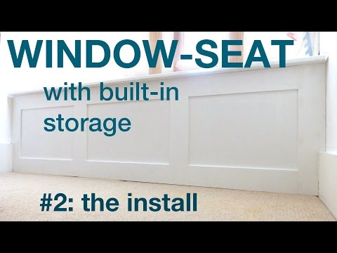 How to make a window seat with storage Part2 #008
