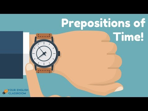 Prepositions In English Grammar -  (In, On, At, For, Until, By)- English Grammar Lesson.
