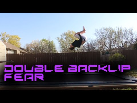 How to get over the fear of a Double Backflip on Trampoline! (Tutorials Week #7)