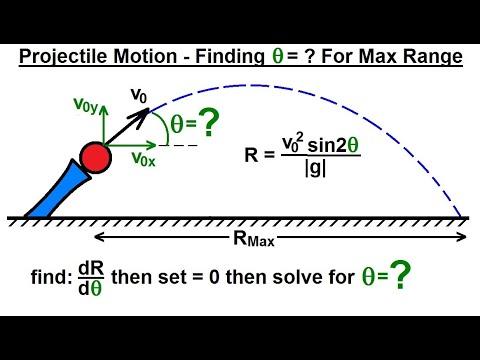 Physics - Mechanics: Projectile Motion (31 of 31) Find Theta=? for Maximum Range