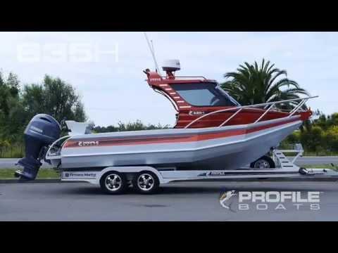 Profile Boats Video 635H Alloy Aluminium Plate Fishing Boat NZ Australia