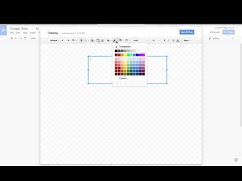 Google Drawing Tool in Google Docs