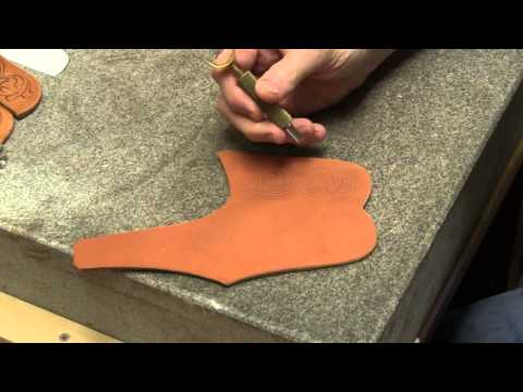 Knife Sheath Making Part 4 Leather Pocket Knife Sheaths for Folding Knives - Carving Leather