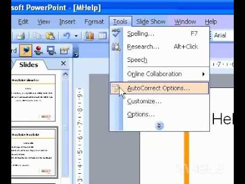 Microsoft Office PowerPoint 2003 Format ordinal numbers as superscript