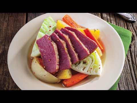 Corned Beef with Vegetables and Mustard-Dill Sauce   Price Chopper How-To