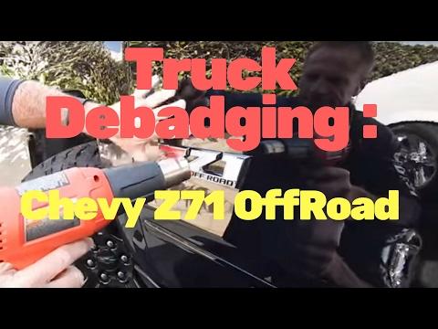 Truck Debadging: 2017 Chevy Z71 emblem removal