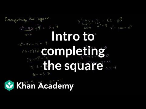Solving quadratic equations by completing the square | Algebra II | Khan Academy