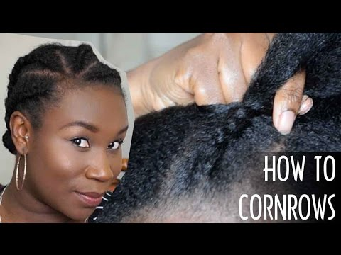 HOW TO CORNROW FOR BEGINNERS | YOUR OWN HAIR | Clear & Easy