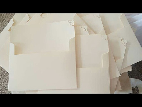 DIY A7 Envelope Tutorial - Wedding Envelopes -  Elegant Wedding -  5x7 Envelopes Handmade