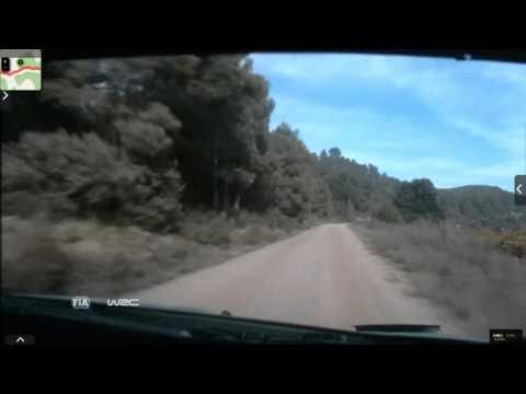 Onboard Kubica rally Catalunya-costa Daurada ss7 2015