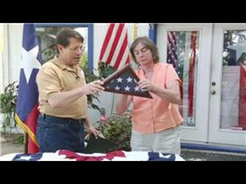 American & Texas Flags : How to Fold the American Flag for a Triangle Display Case