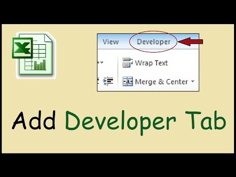 How to add the developer tab in Excel 2010