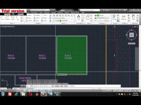 Autocad Lecture9 how To Find Area Of Plot ,urdu hindi