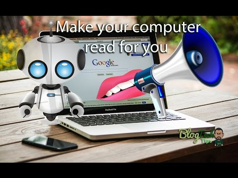 Make your computer read Anything to you: text to voice