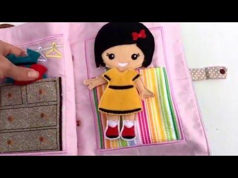 Handmade Activity Cloth Book