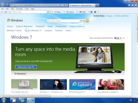 Windows 7 Check the Internet Explorer Security Settings