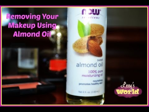 Removing Makeup Using Almond Oil