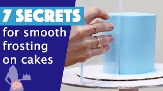 7 Secrets For Smooth Frosting On Cakes
