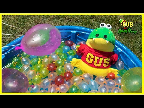 Fun Outdoor Activities with Bunch of Balloon Water Balloons and Pool Playtime
