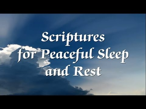 Bible Scriptures for Peaceful Sleep and Rest -- with narration