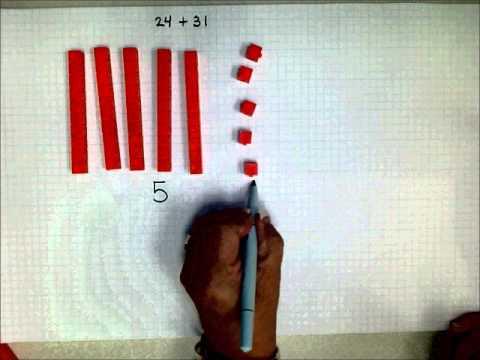 SCC Math 205 Addition Using Base 10 Blocks