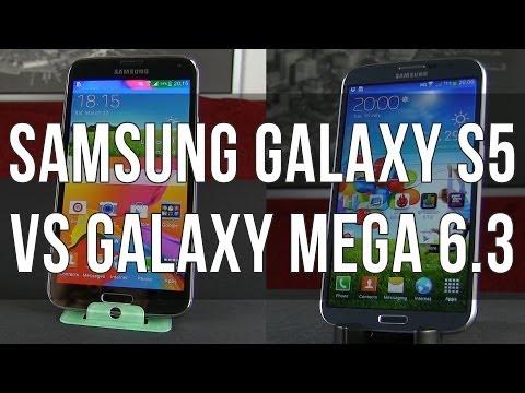 Samsung Galaxy S5 vs Galaxy Mega 6.3 comparison