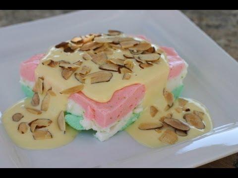 Almendrado Recipe - Mexican Flag Dessert - Very Light And Refreshing! By Rockin Robin