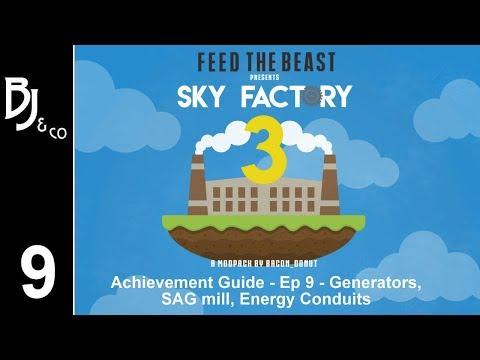 Skyfactory 3 - Achievement Guide - Ep 9 - Generators, SAG Mill, Energy Conduits